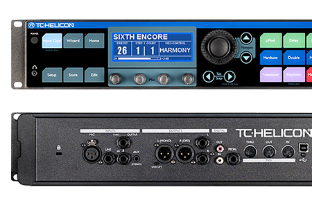 TC-Helicon VoiceLive Rack front + Back
