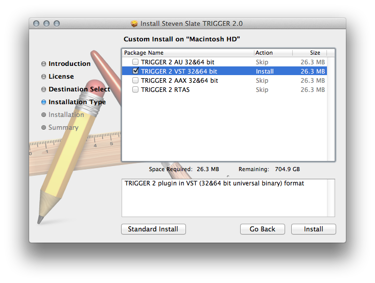 custom install option