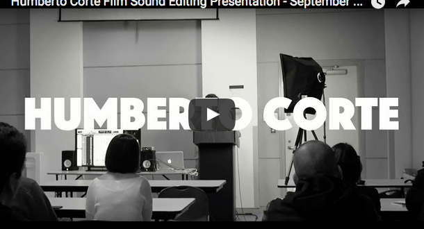 Film sound editing presentation at Vancouver Sound Designers Meetup